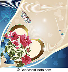 Light background with roses