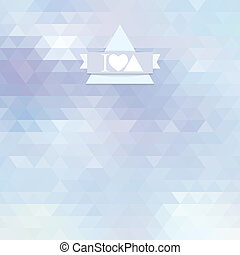 light background with triangles