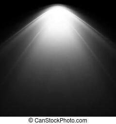 Light Beam From Projector. Vector illustration - White Light...