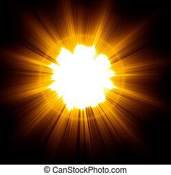 Light Beam - Light beam. 3D render. Black background.