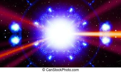 Beams and particle Magic Loop