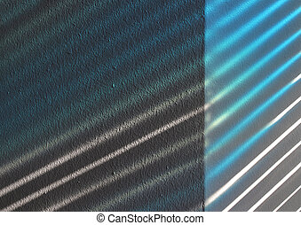 Light beams on wall