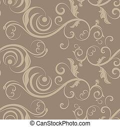 Light beige seamless floral pattern.