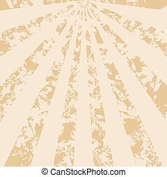 light beige vintage background with rays - vector