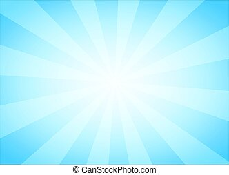Light Blue Abstract Background with Vintage Rays