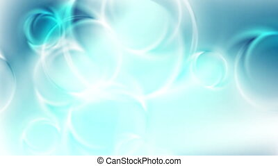 Light blue abstract glossy shiny rings video animation