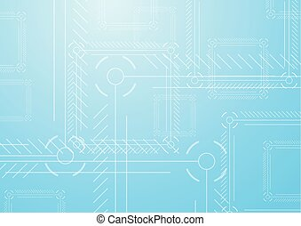 Light blue abstract tech background