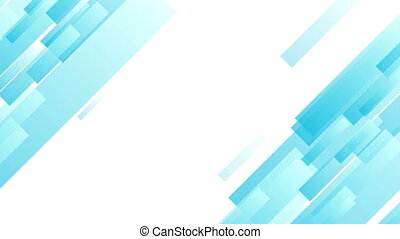 Light blue abstract tech geometric motion design. Seamless...