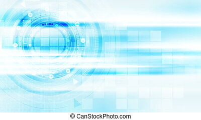 Light blue abstract technology video animation