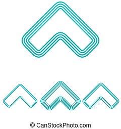 Light blue arrow logo design set