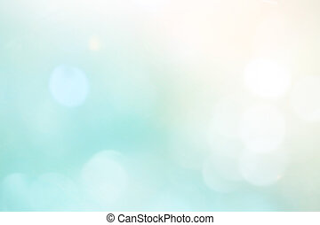 Light blue background beautiful bokeh