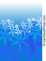 Light blue background with flower, circles and shapes ideal...