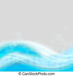 light blue background with abstract shapes