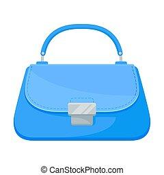 Light blue bag. Vector illustration on a white background.
