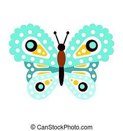 Light blue beautiful butterfly vector Illustration