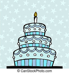 Light blue birthday cake - llight blue birthday cake on...