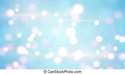 light blue blurred circles loopable background