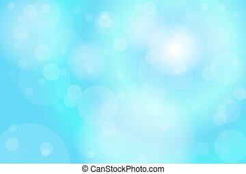 Light Blue Bokeh Abstract Background