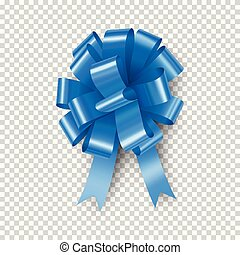 Light blue bow with ribbon element