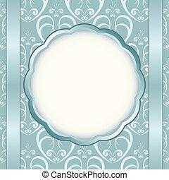 light blue card with light pattern and white center - eps