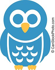 Light blue cartoon owl