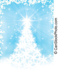 Light blue Christmas card