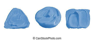Light blue color paint isolated on white