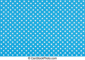 Light blue fabric with white polka dots