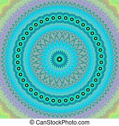 Light blue floral fractal mandala background