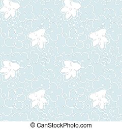 Light blue floral pattern