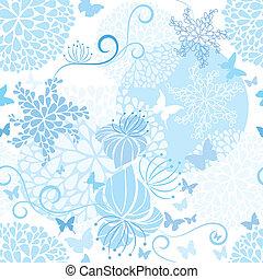 Light Blue floral seamless pattern