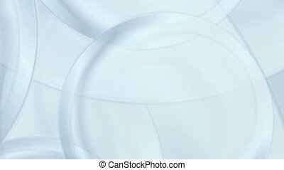Light blue flowing waves video animation