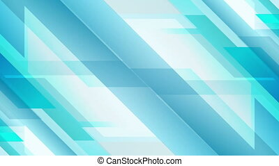 Light blue geometric technology video animation - Light blue...
