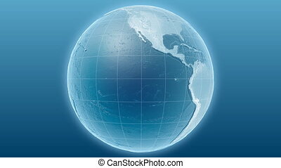 Light blue globe