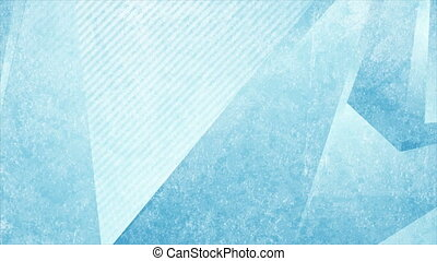 Light blue grunge tech low poly abstract background. Geometric motion design. Seamless loop. Video animation Ultra HD 4K 3840x2160