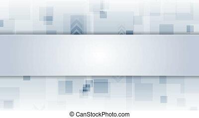 Light blue hi-tech video animation with arrows - Light blue...