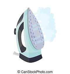 Light blue iron. Vector illustration on a white background.