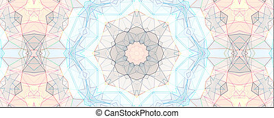Light blue kaleidoscope background pattern
