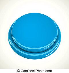 Light blue metal button