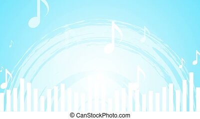 Light blue music abstract video animation