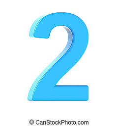 light  blue number 2
