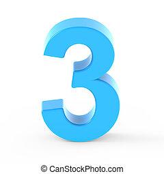 light blue number 3