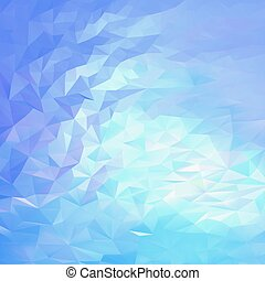 Light blue, pink abstract triangular background