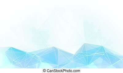 light blue polygon background loopable