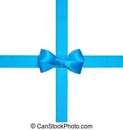 light blue ribbon bow for packaging