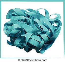 Light blue ribbon isolated on white background