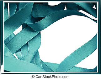 Light blue ribbon isolated on white background