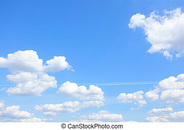 Light blue sky and clouds - Blue sky with light cumulus...