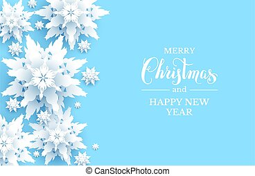 Light blue snowflakes card