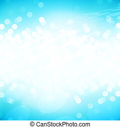 Light blue sparkle - Abstract design of lights on a blue ...